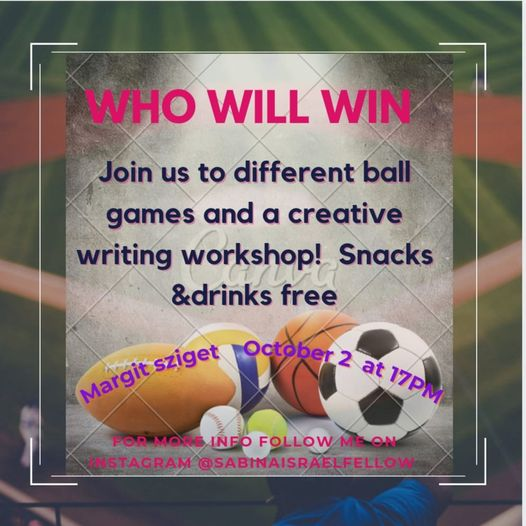 Sport and writing workshop