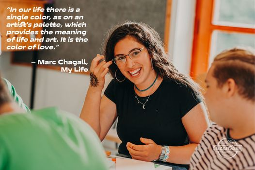 Chagall, in this quote and in his paintings, represents the beauty and spirit of the Jewish people …